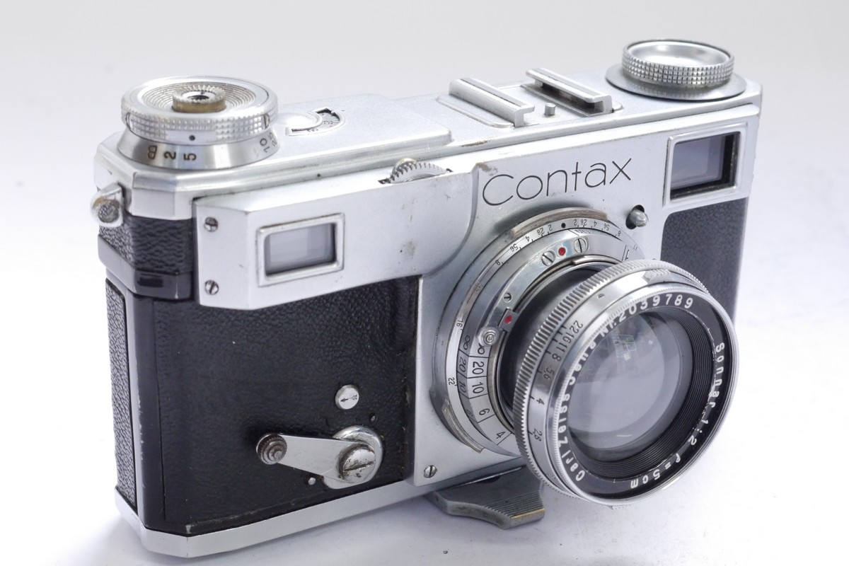 Zeiss Ikon Contax Ii 35mm Coupled Rangefinder Camera Nog10832 Working Of Digital Cameras Carl Jena 5cm F2 Sonnar Collapsible Lens Non Mw Classic