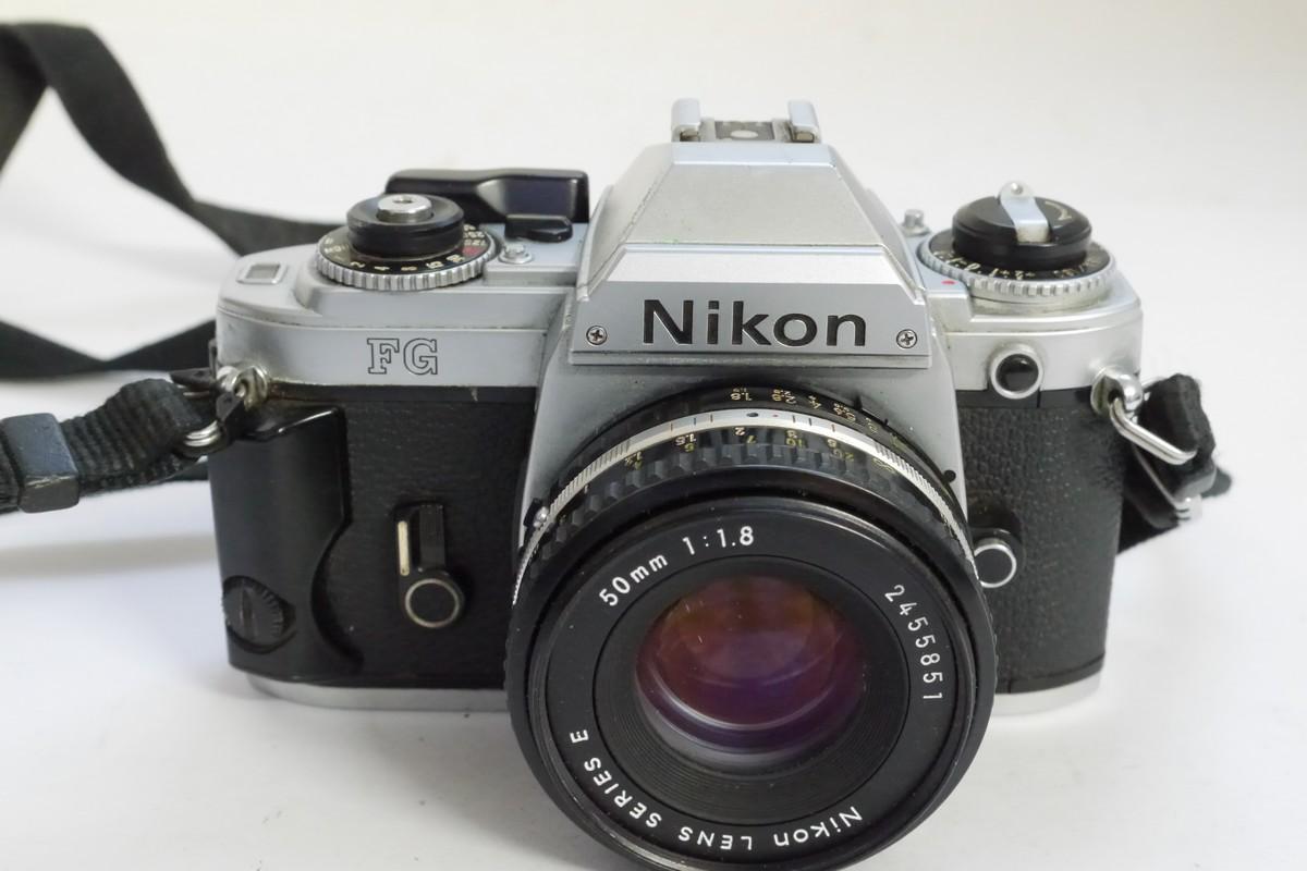 nikon fg chrome 35mm slr 50mm f1 8 series e manual focus lens rh mwclassic com Nikon FG Camera Review Battery Nikon FG 20