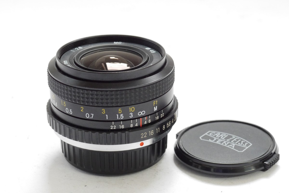 Carl Zeiss Jena 28mm f2 8 manual focus Pentax PKM mount lens + caps - MW  Classic Cameras